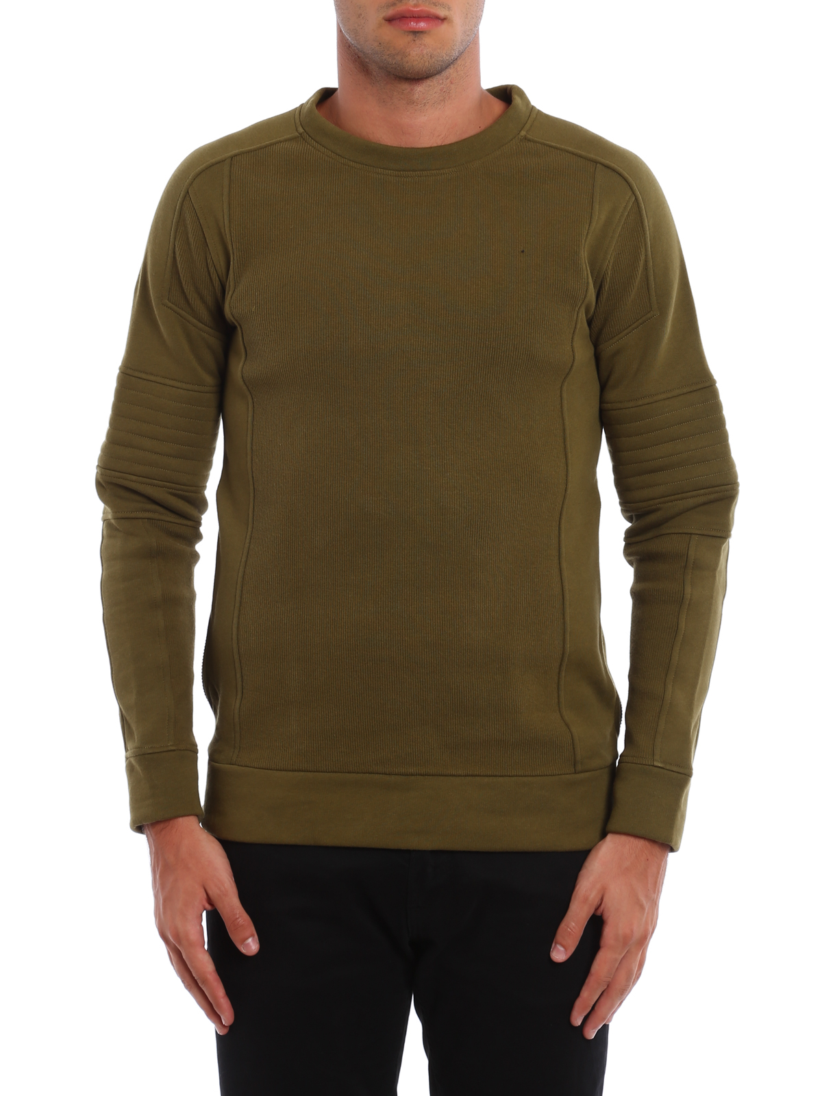 Biker-inspired cotton sweatshirt by Balmain - Sweatshirts ...