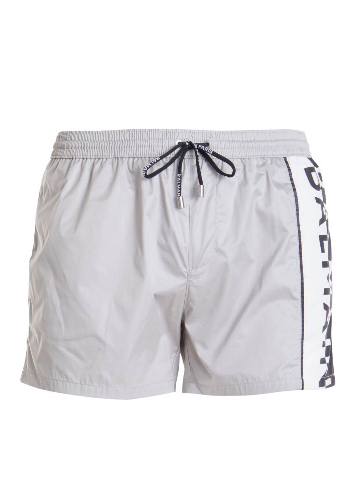 Balmain Shorts LOGO STRIPE SWIM SHORTS