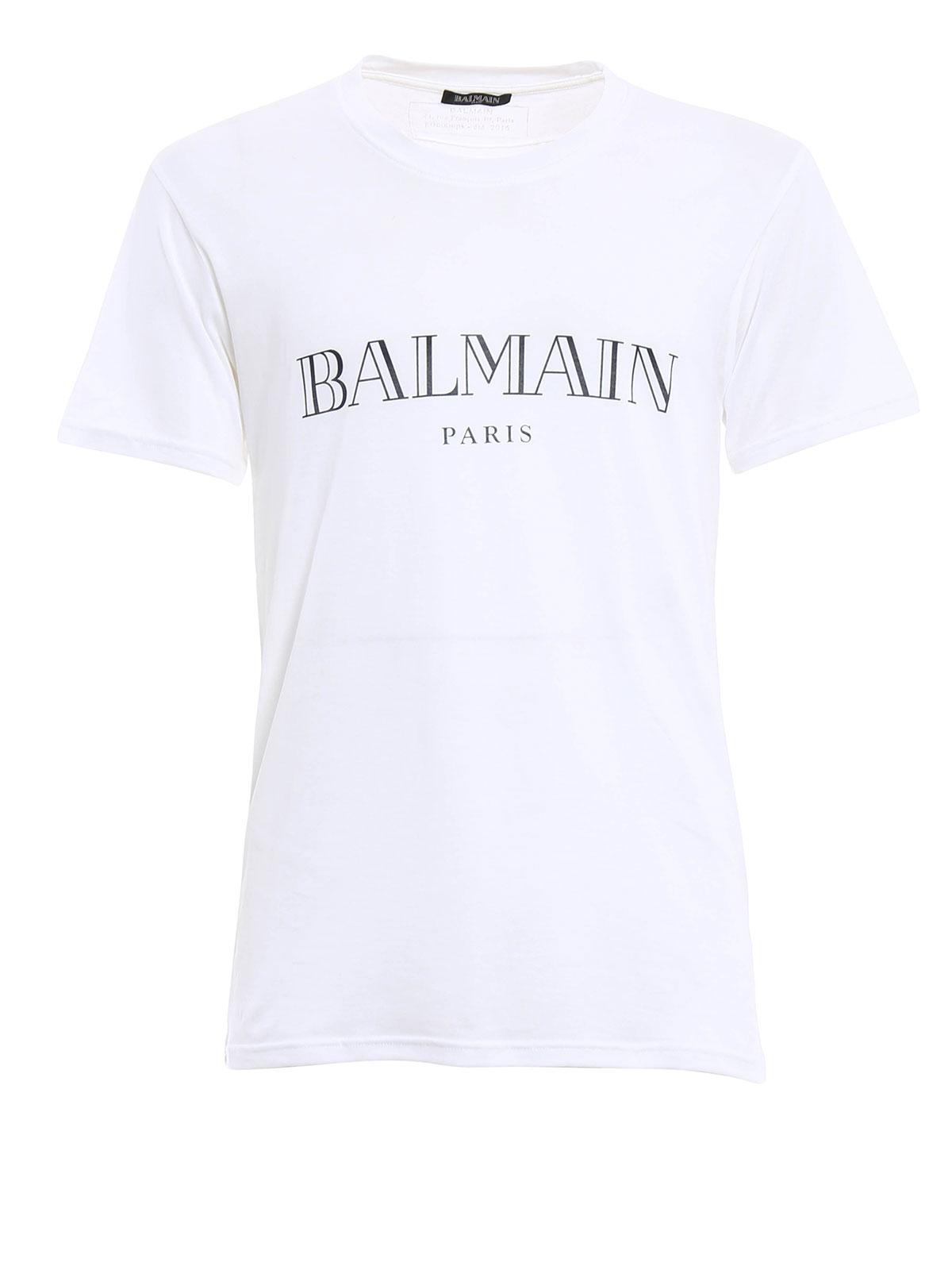 cotton t shirt by balmain t shirts ikrix. Black Bedroom Furniture Sets. Home Design Ideas