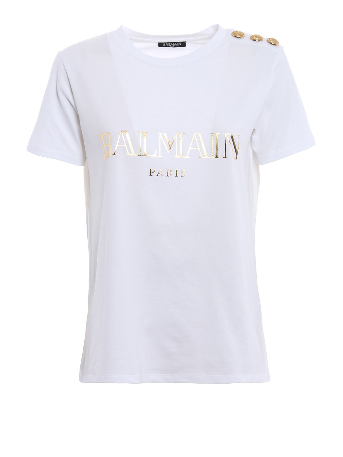 embellished cotton shirt by balmain t shirts ikrix. Black Bedroom Furniture Sets. Home Design Ideas