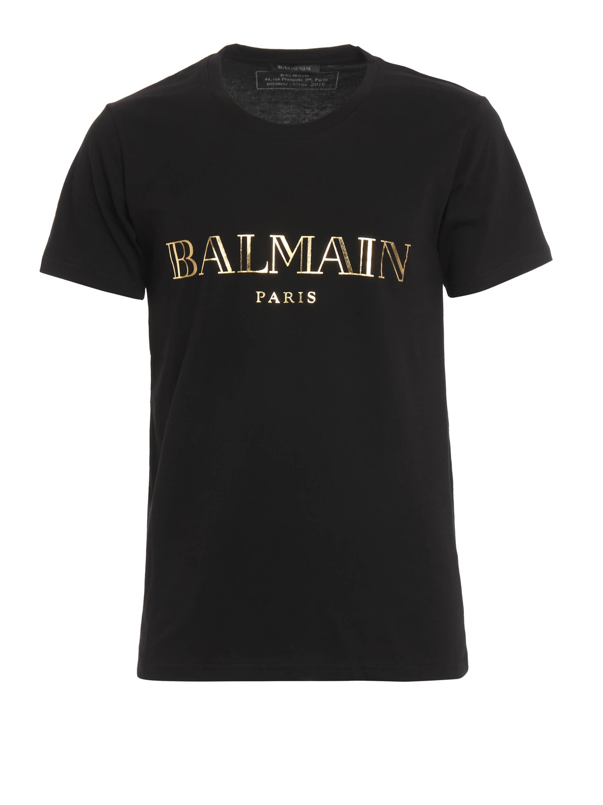 Logo print cotton t shirt by balmain t shirts shop for Tee shirt logo printing