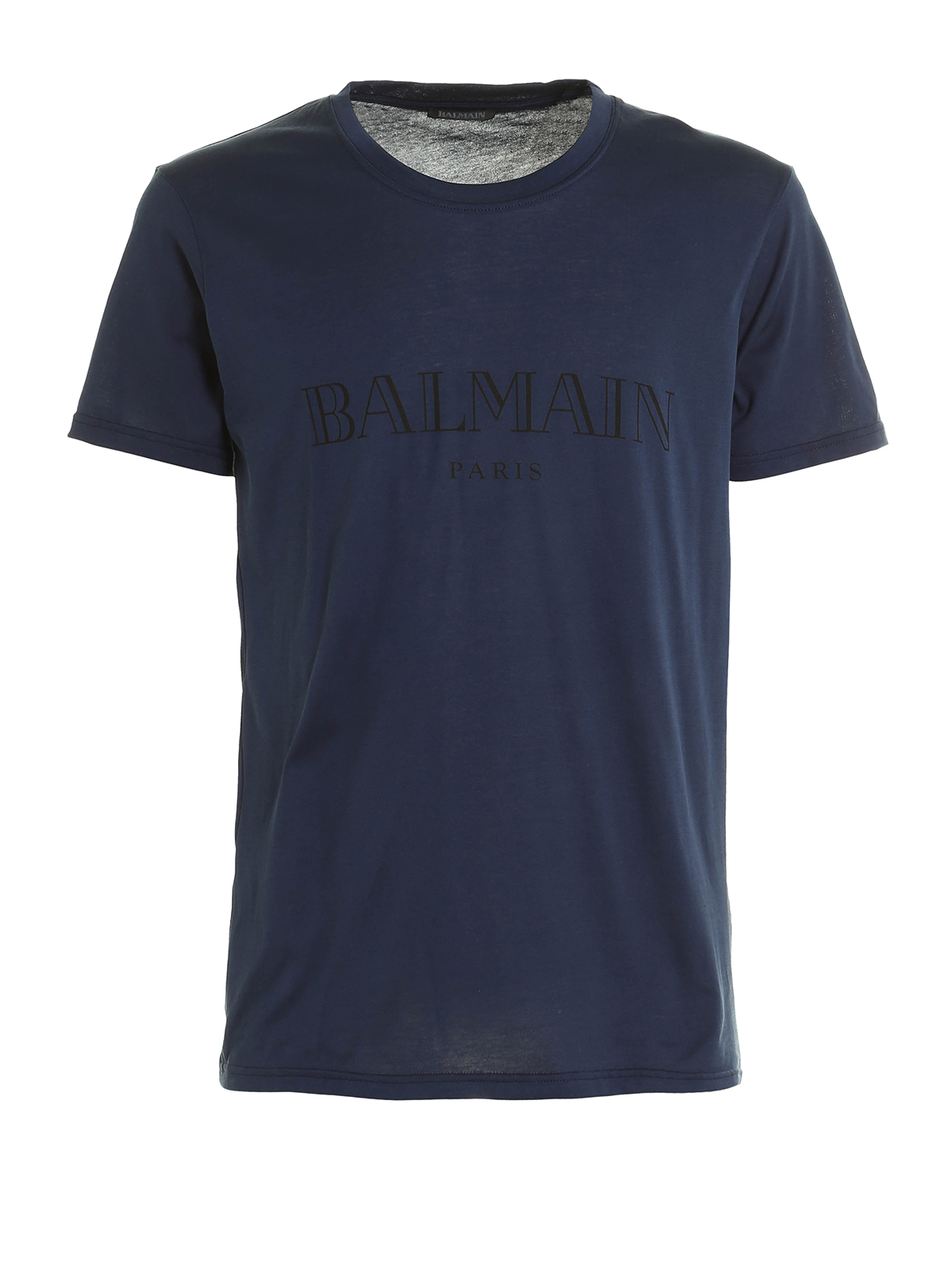 logo print short sleeve tee by balmain t shirts ikrix. Black Bedroom Furniture Sets. Home Design Ideas