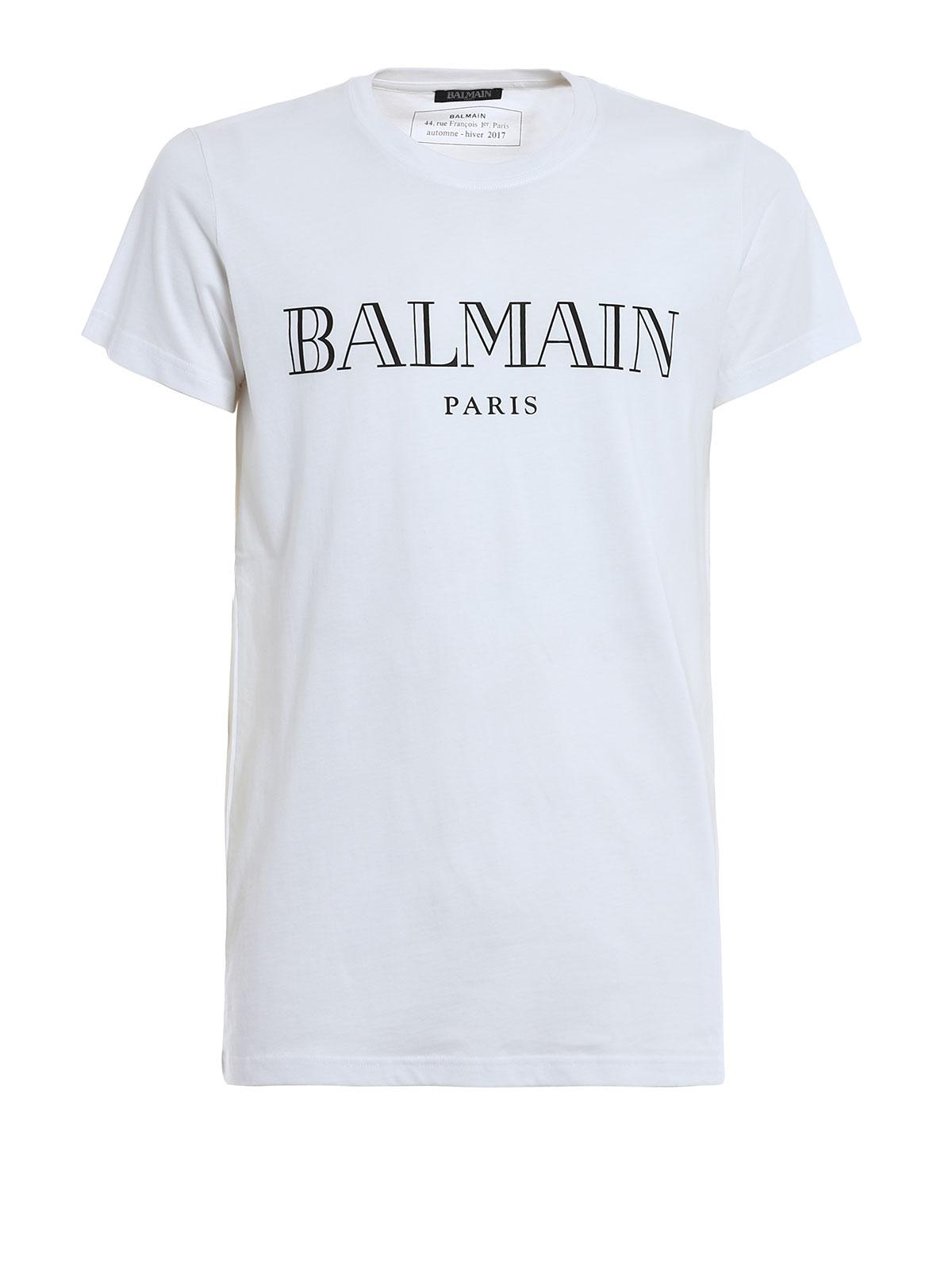 Logo Print T Shirt By Balmain T Shirts Ikrix