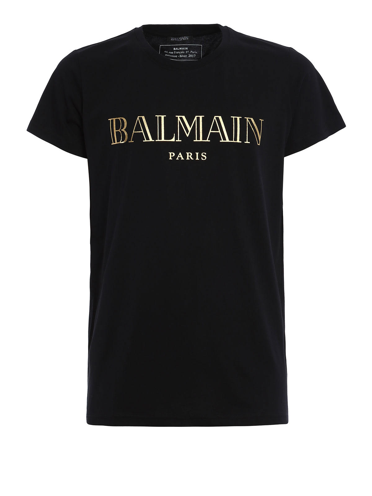 Logo print t shirt by balmain t shirts ikrix for Tee shirt logo printing