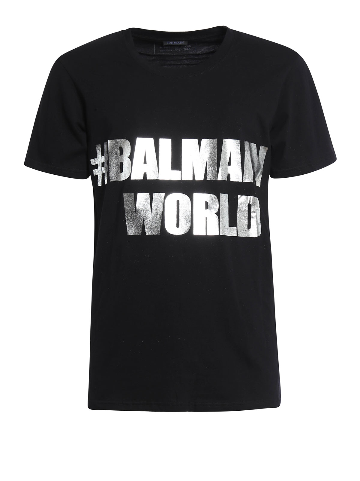 logo printed jersey t shirt by balmain t shirts ikrix. Black Bedroom Furniture Sets. Home Design Ideas