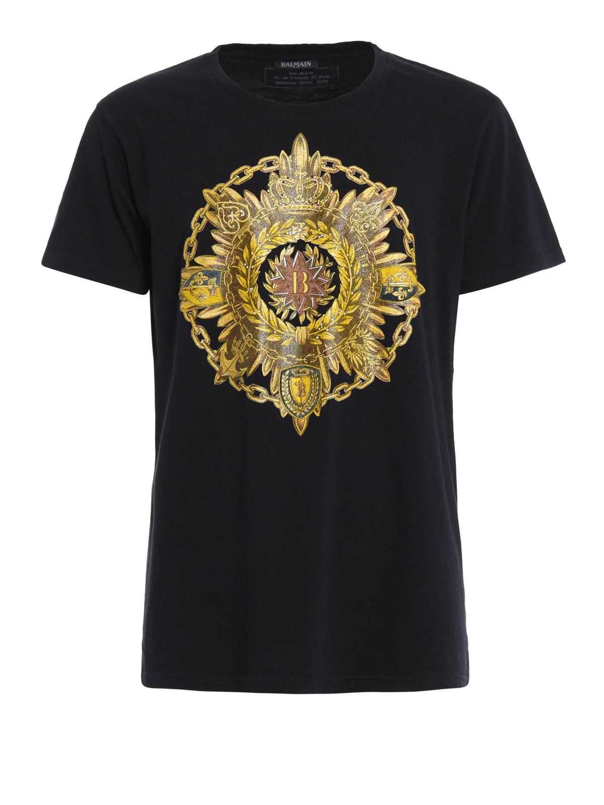 medal printed cotton tee by balmain t shirts ikrix. Black Bedroom Furniture Sets. Home Design Ideas