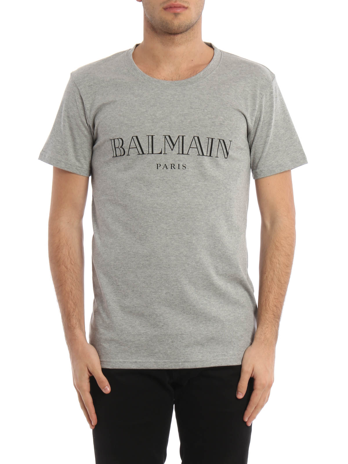 logo print cotton t shirt by balmain t shirts ikrix. Black Bedroom Furniture Sets. Home Design Ideas
