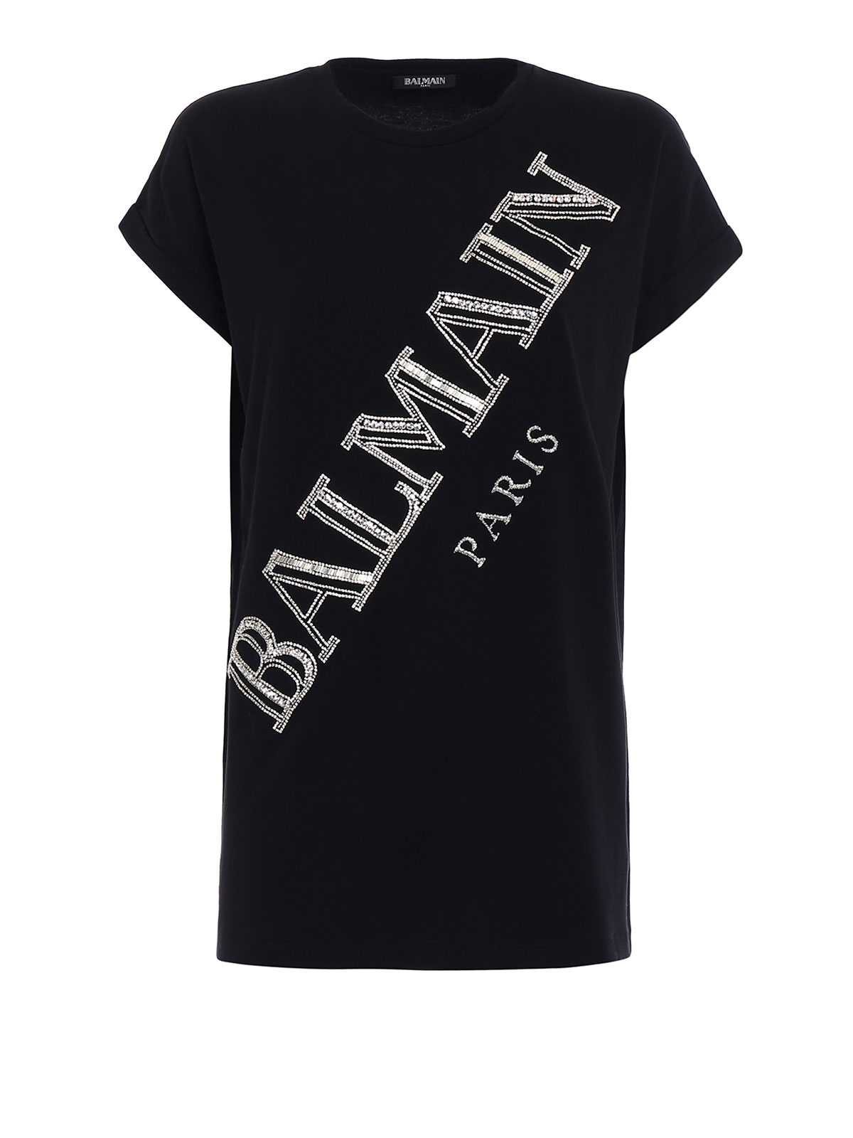 precious logo cotton t shirt by balmain t shirts ikrix. Black Bedroom Furniture Sets. Home Design Ideas