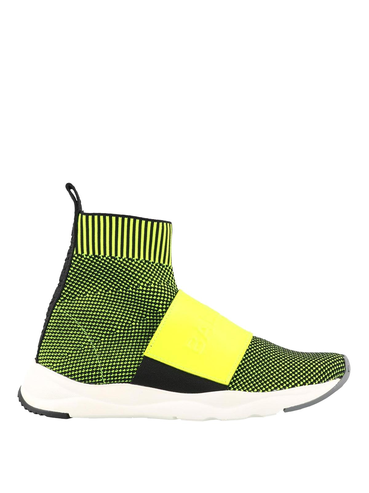 Cameron yellow mesh sock sneakers