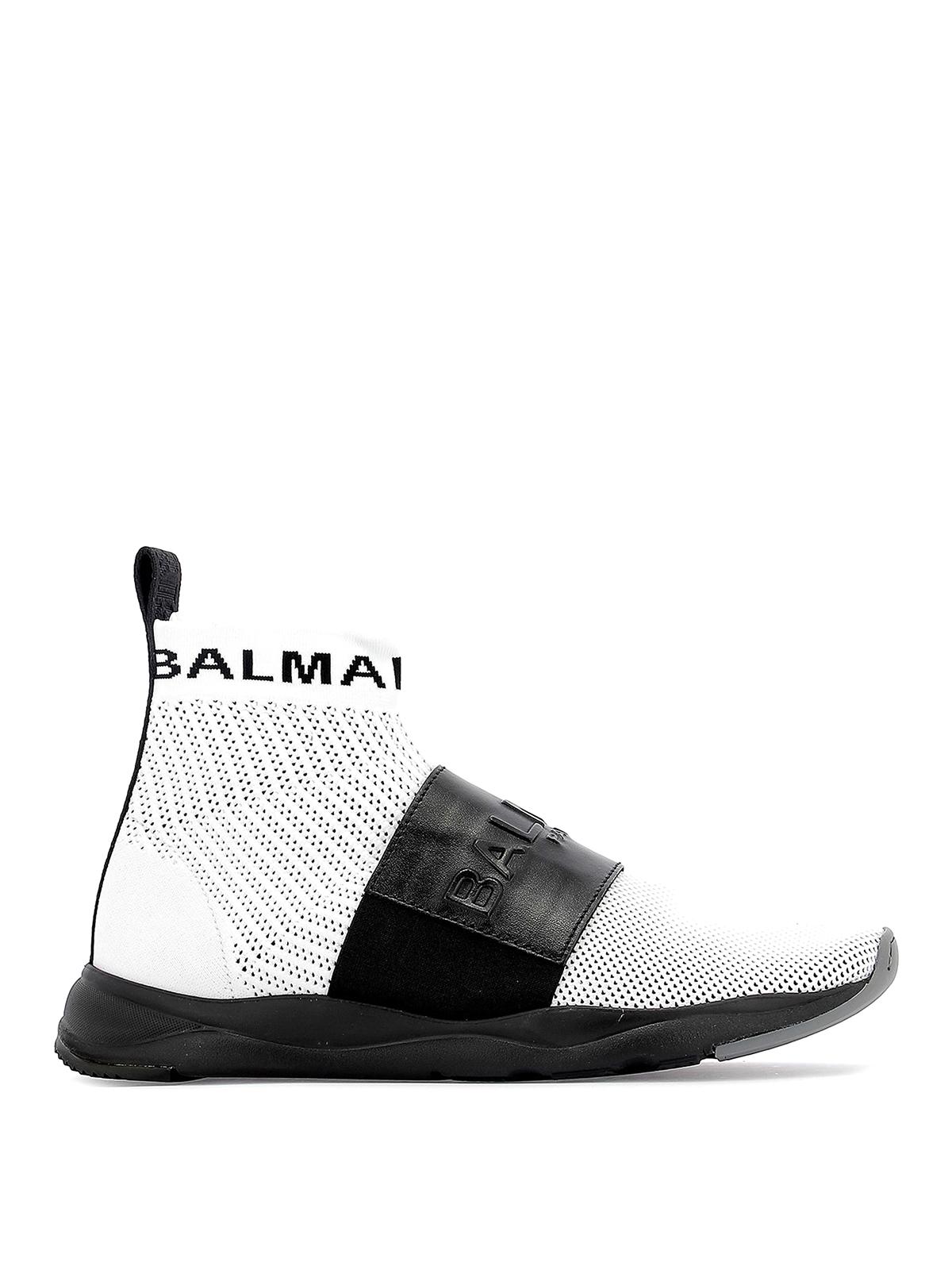 Balmain - White Cameron sock sneakers