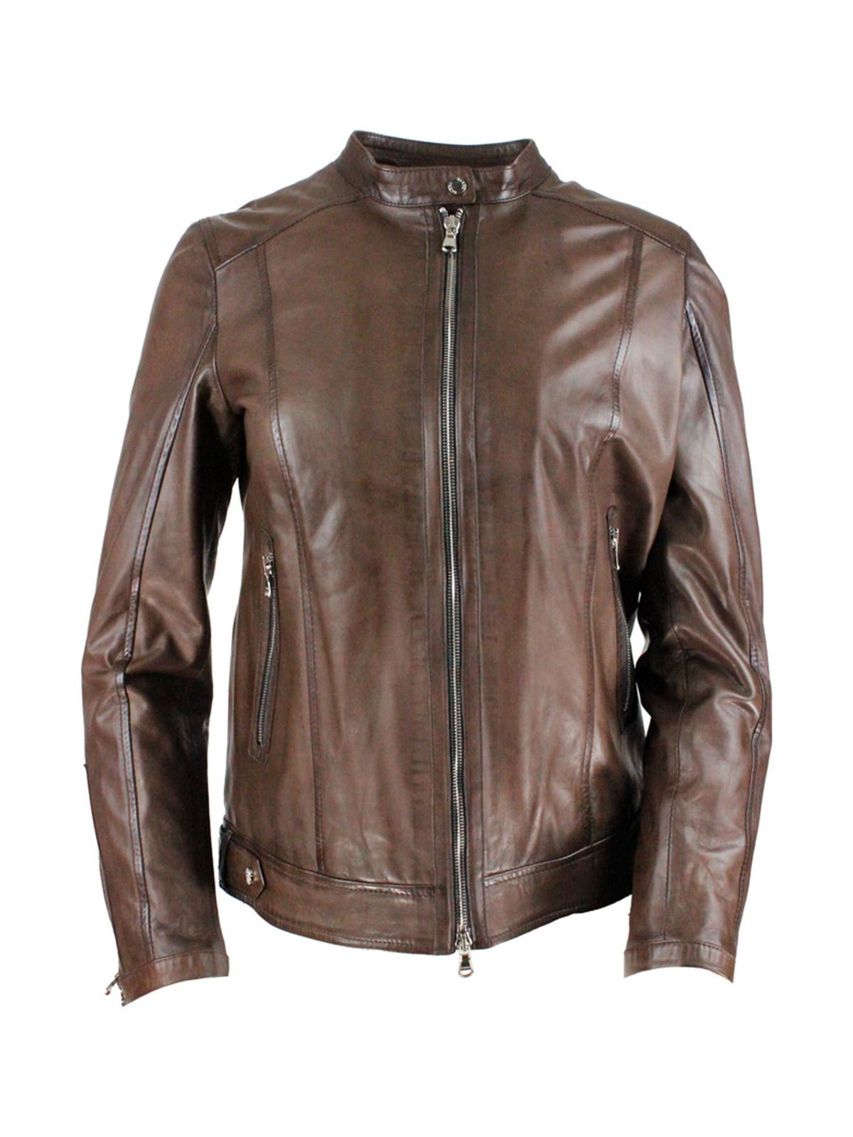 Barba LEATHER JACKET IN BROWN