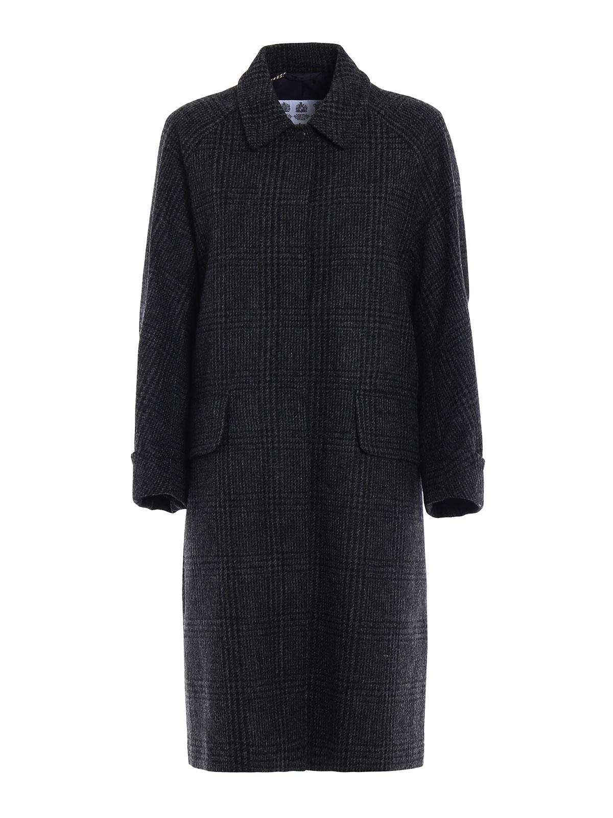 Barbour - Cappotto in lana Moulton Jacket - cappotti al ginocchio ... 7dadf8c5ac94
