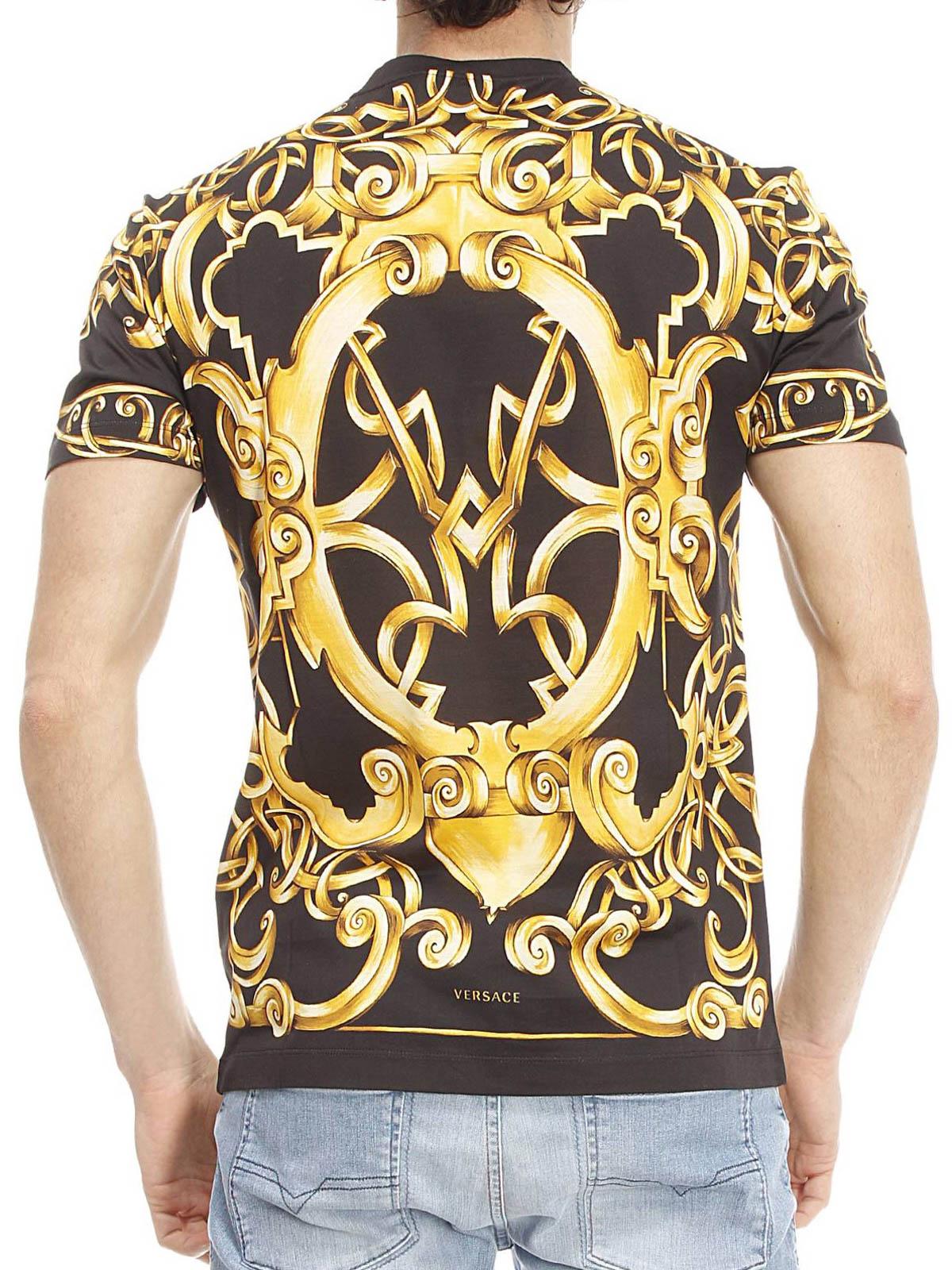 Versace - Barocco print T-shirt - t-shirts - A68988 ...
