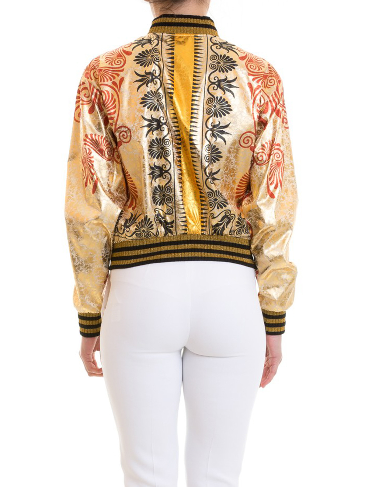 Collection fantasia barocca Bomber in Versace giacche metal dwA4qxcIF 5c649f4b2d7