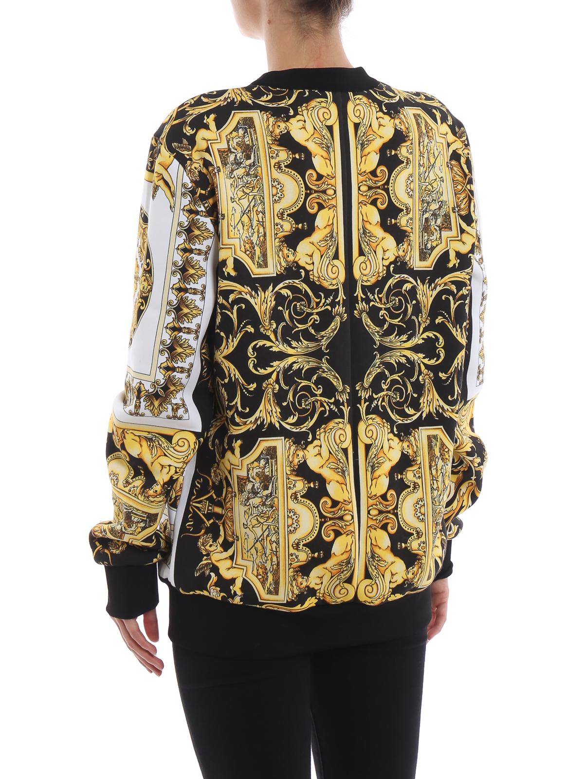 3113ba2c265d Versace - Felpa in cotone con stampa barocca - Felpe e maglie ...