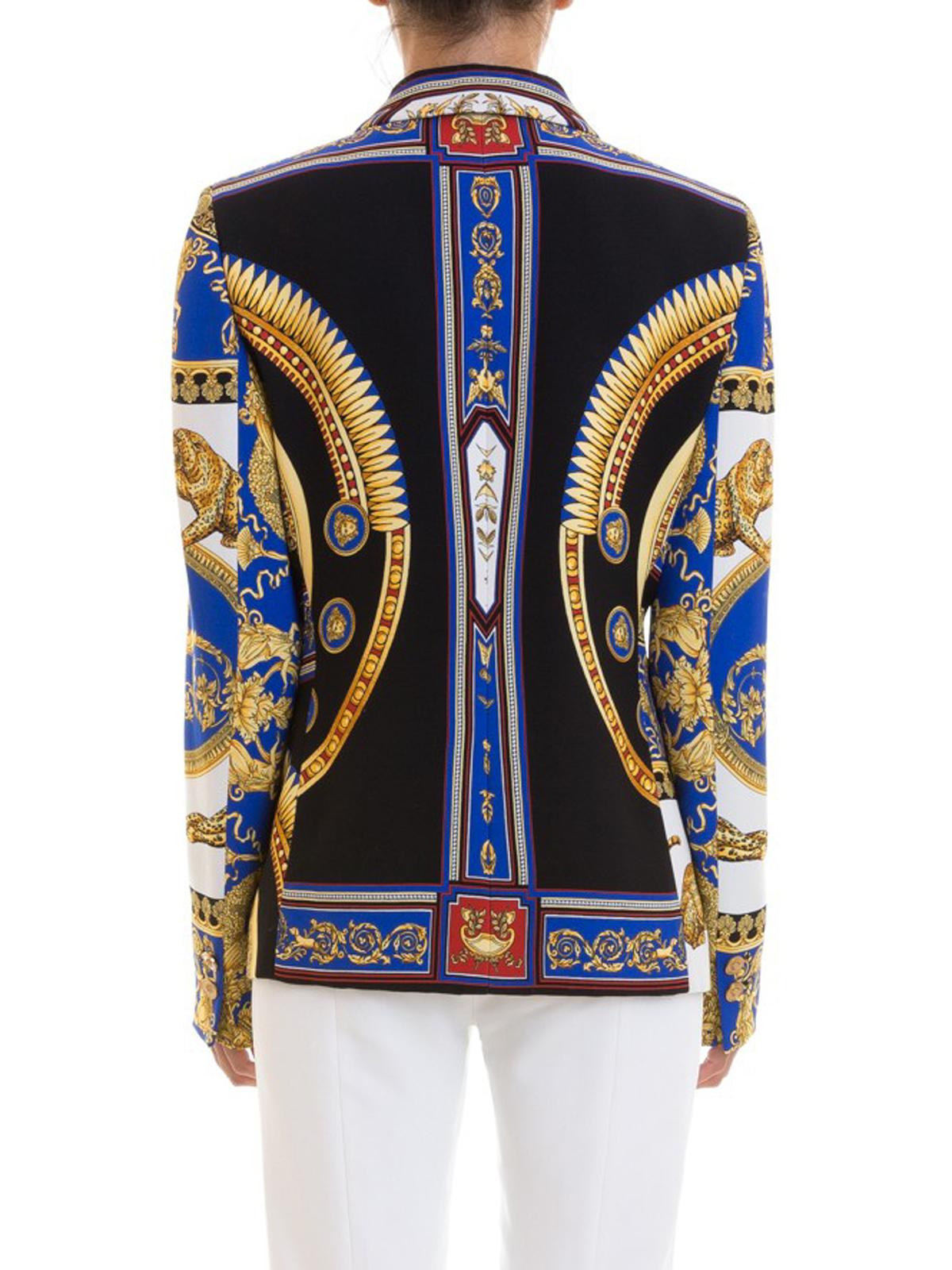 1df915139876 Versace - Blazer con stampa barocca all-over - giacche blazer ...
