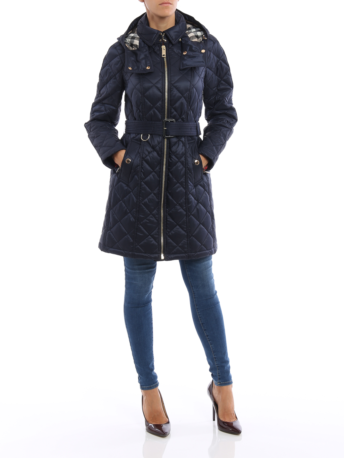Burberry Baughton Quilted Trench Coat Trench Coats