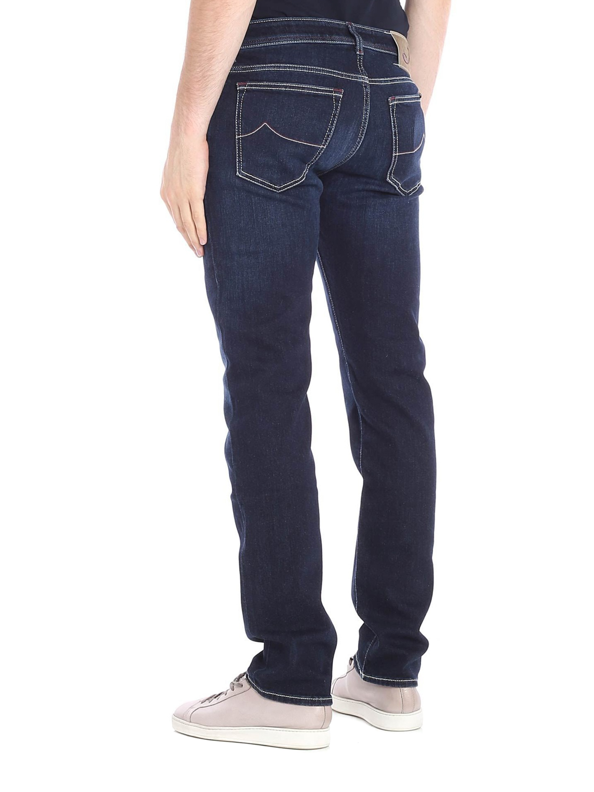 jacob cohen straight leg jeans straight leg jeans. Black Bedroom Furniture Sets. Home Design Ideas