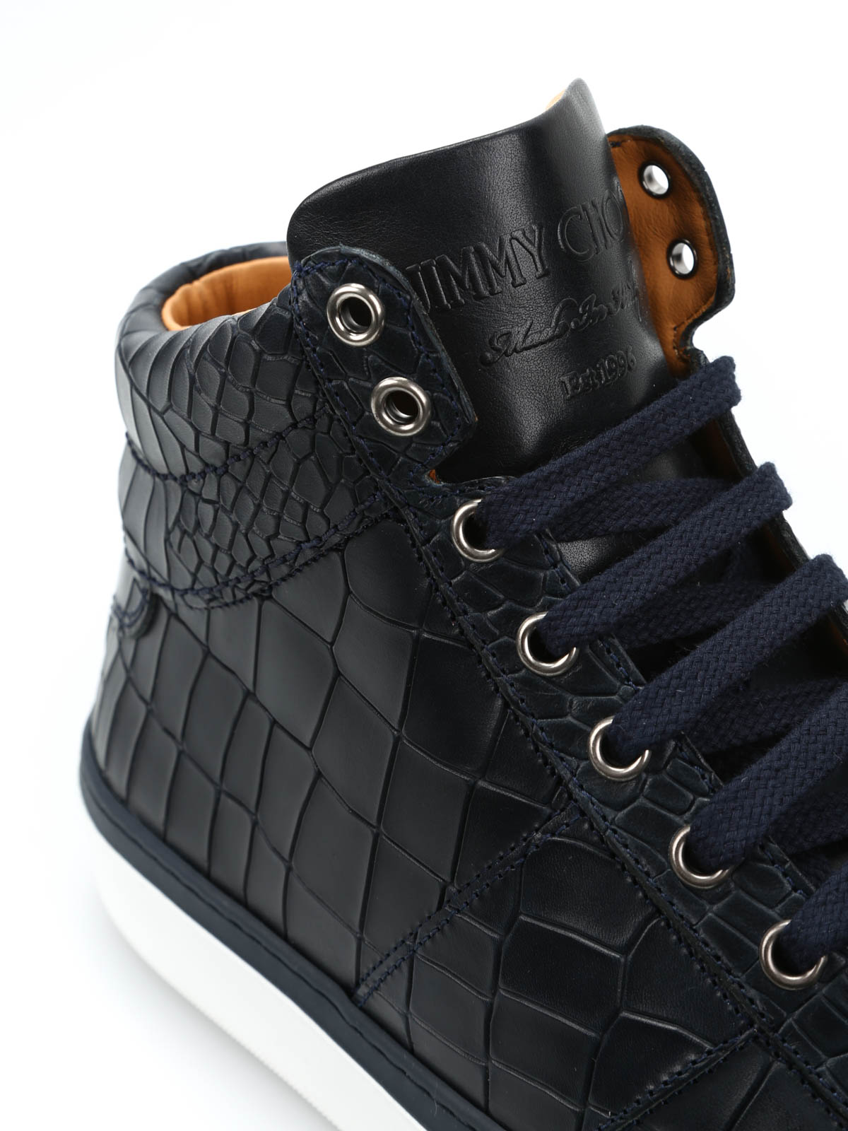 13a471c6990 Jimmy Choo - Belgravia high-top leather sneakers - trainers ...