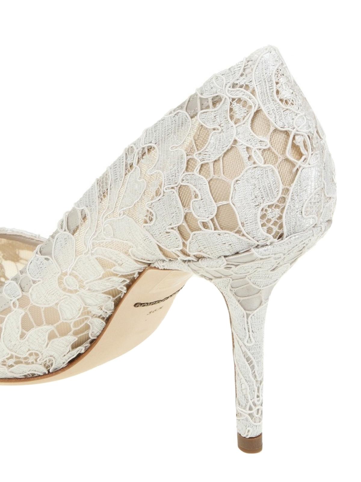 Gabbana - Bellucci white lace pumps