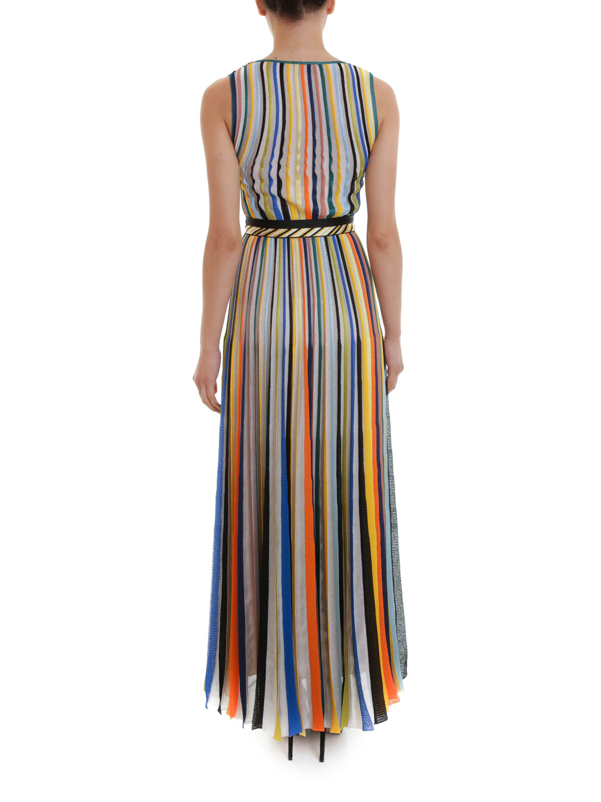 new style a8e44 d6e33 Missoni - Maxi abito a righe con cintura - abiti lunghi ...