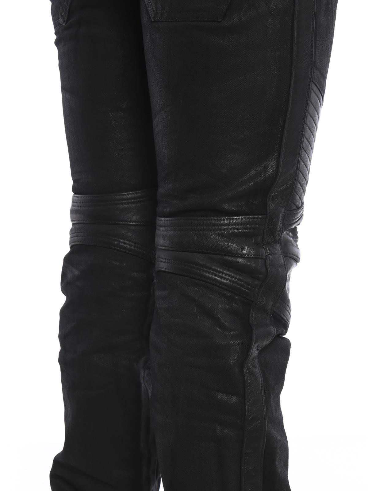 balmain lederhose fur herren schwarz lederhosen s6ht569d309c176. Black Bedroom Furniture Sets. Home Design Ideas