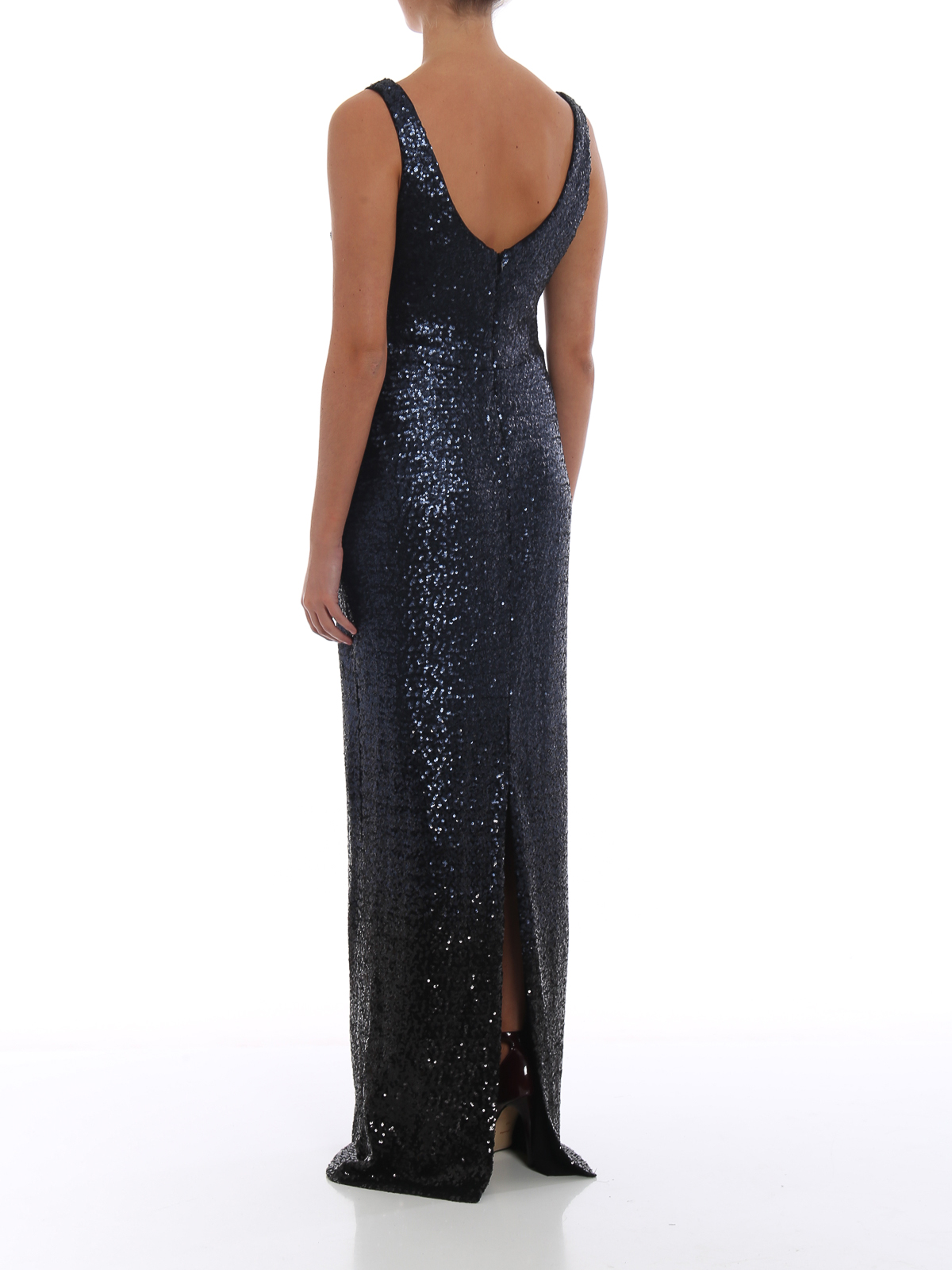 fb02ba6d Ralph Lauren - Black and blue sequin sleeveless gown - evening ...