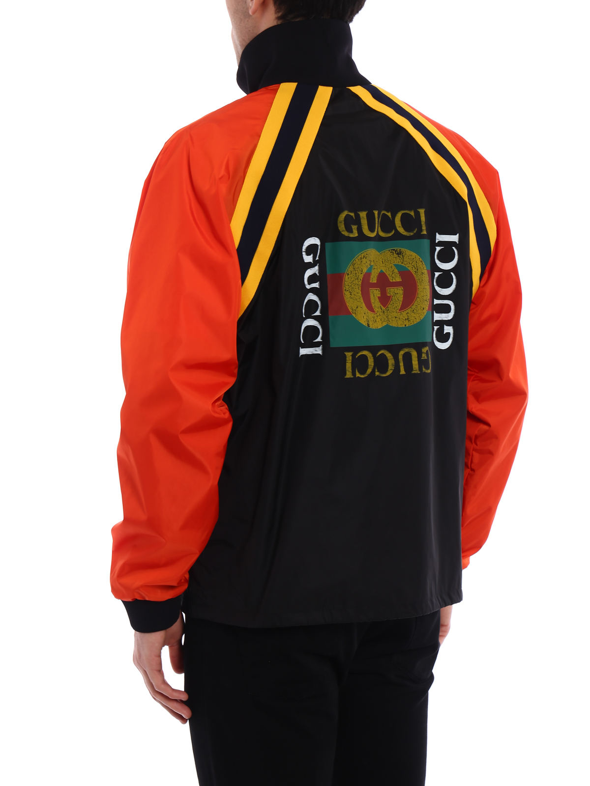 1afd03dab Gucci - Black and orange nylon jacket - casual jackets - 500958Z707C1565