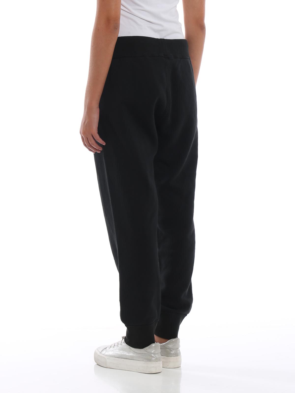 46b32466e16 Black cotton fleece tracksuit bottoms shop online  POLO RALPH LAUREN