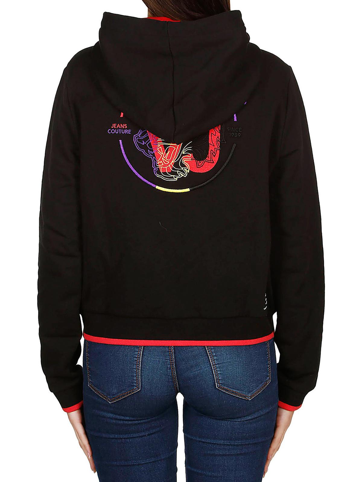89d64f98a22 Versace Jeans - Sweat-Shirts - Noir - Sweatshirts   Pulls ...