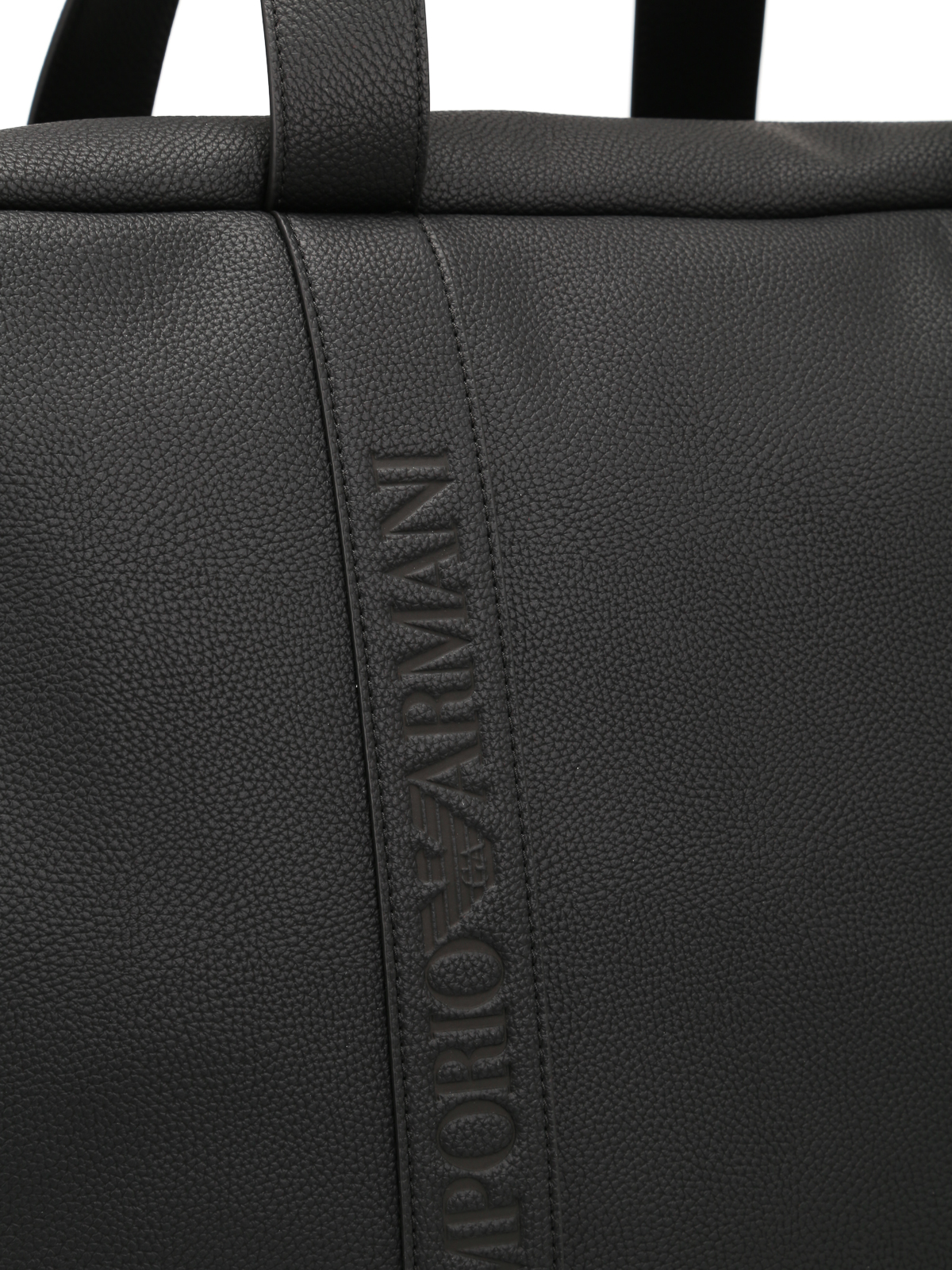 Emporio Armani - Black faux leather travel bag - Luggage   Travel ... f3f8f55ff5