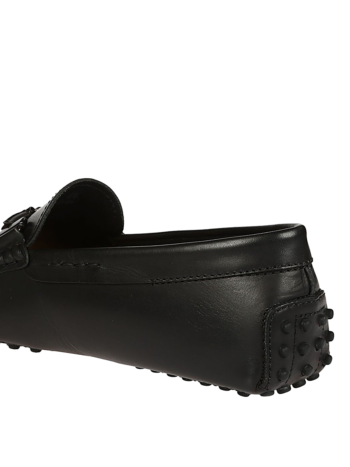 Black leather driver shoes - Loafers