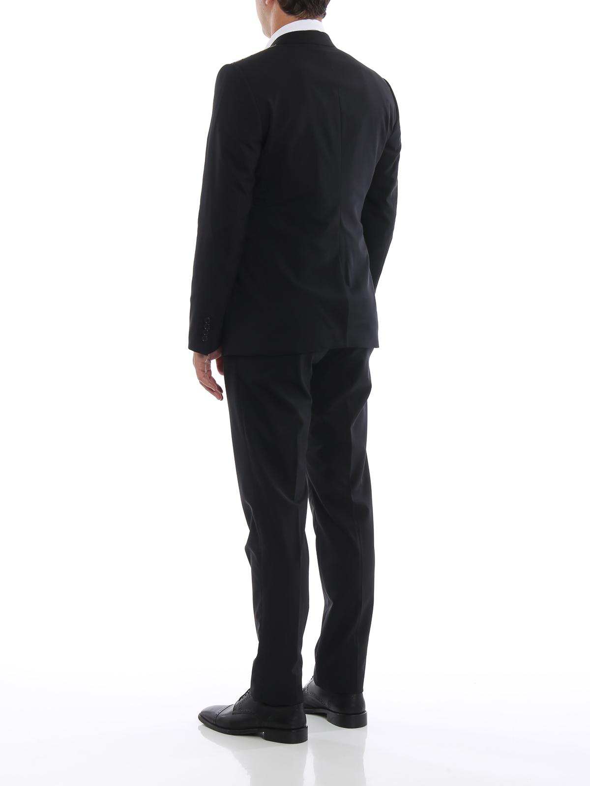 Dolce   Gabbana - Completo Martini nero in fresco lana - completi da ... ce101b67c59
