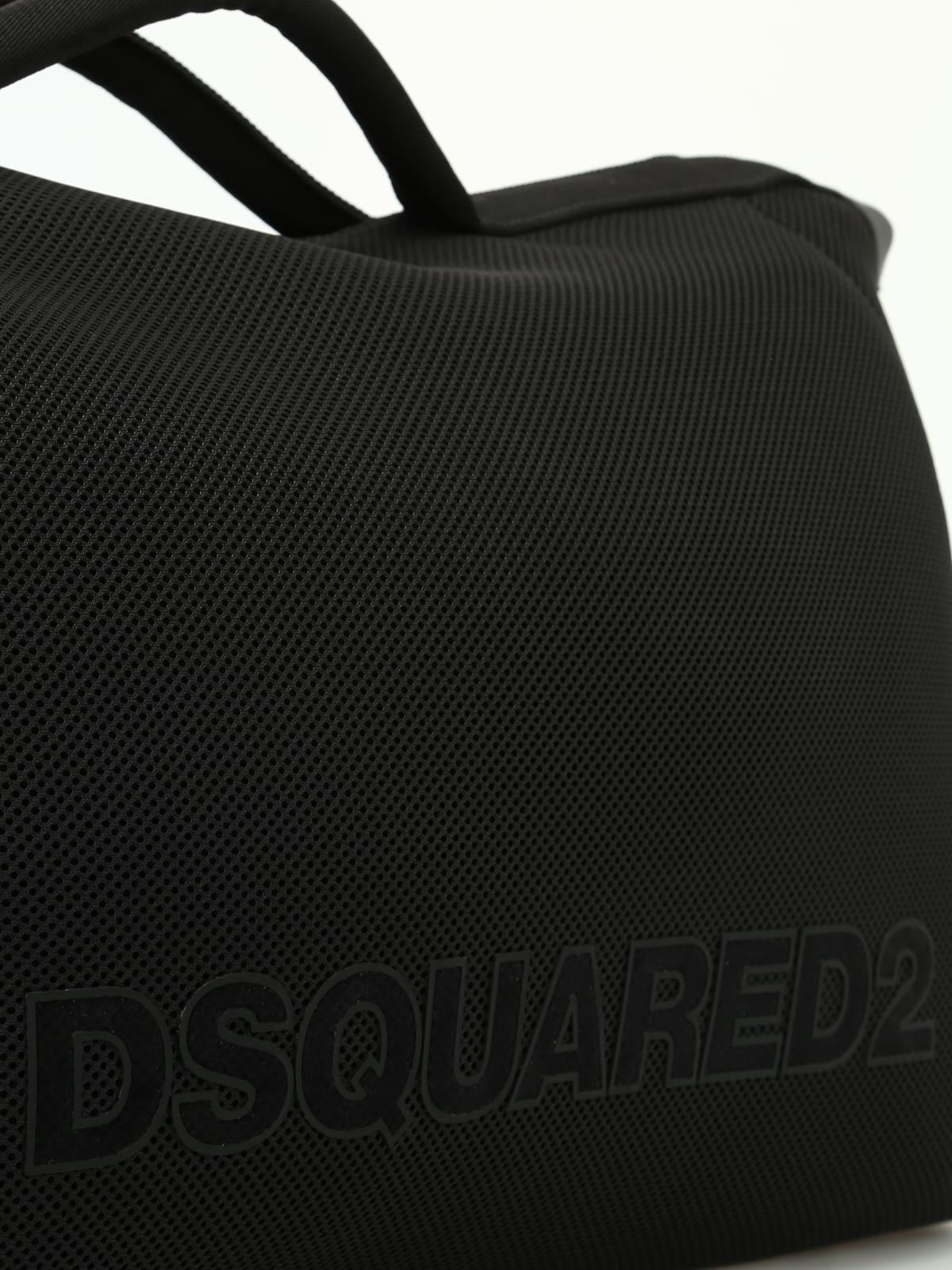 Dsquared2 Black mesh neoprene carryall HtDYwOtSBl