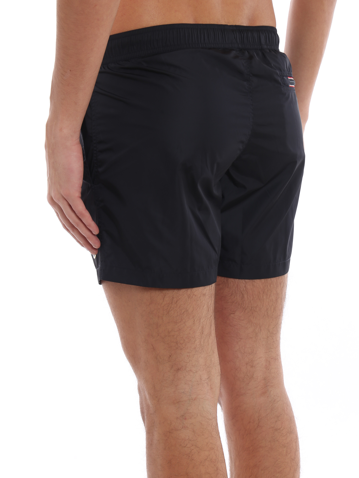 ed3d9c5691b39 Moncler - Dark blue nylon swim shorts - Swim shorts & swimming ...