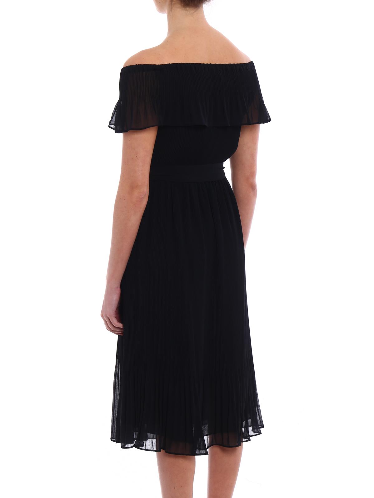 Michael Kors Pleated Chiffon Dress