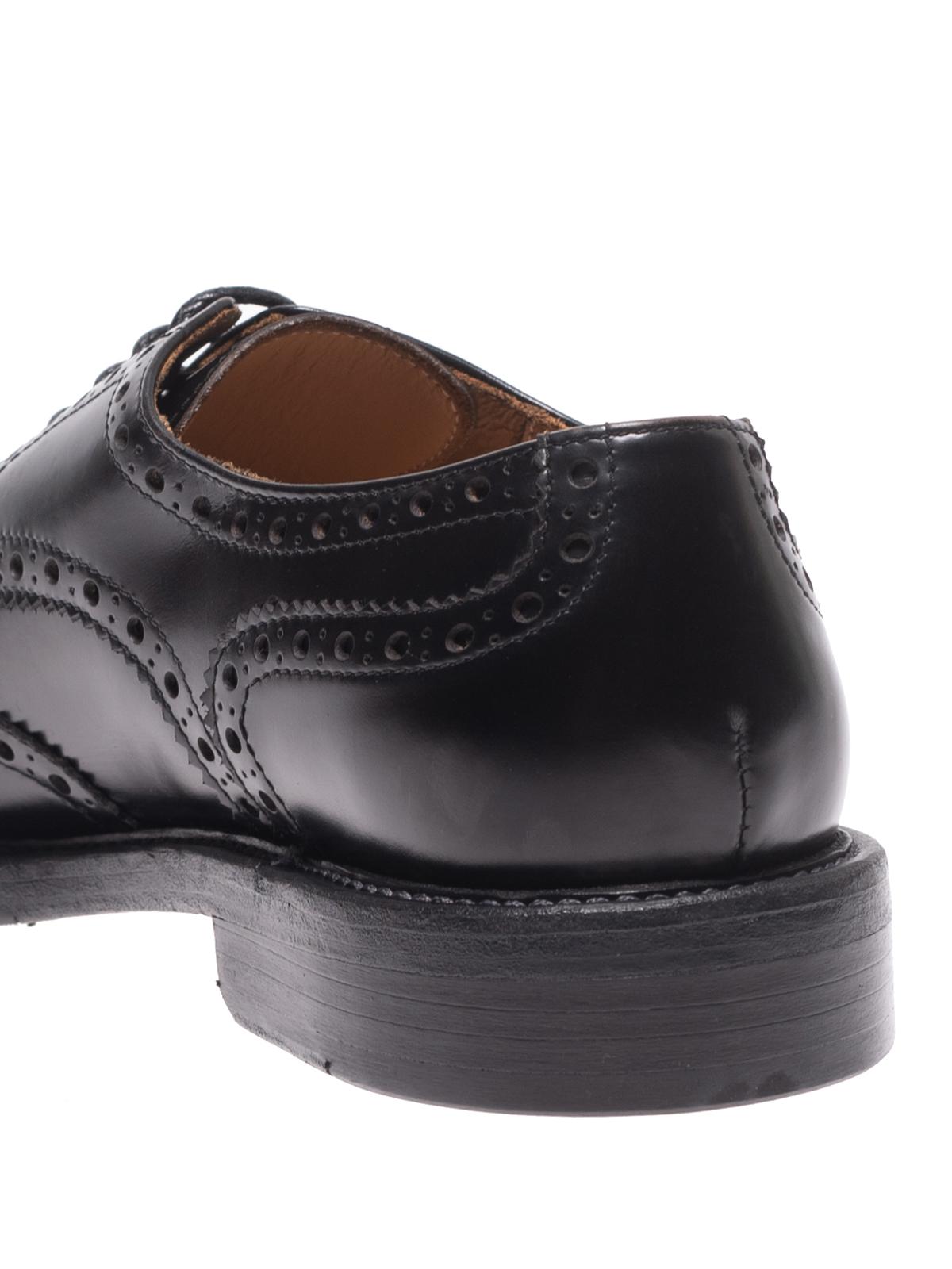new arrivals 0a71c 62592 Green George - Derby brogue in pelle lucida nera - scarpe ...