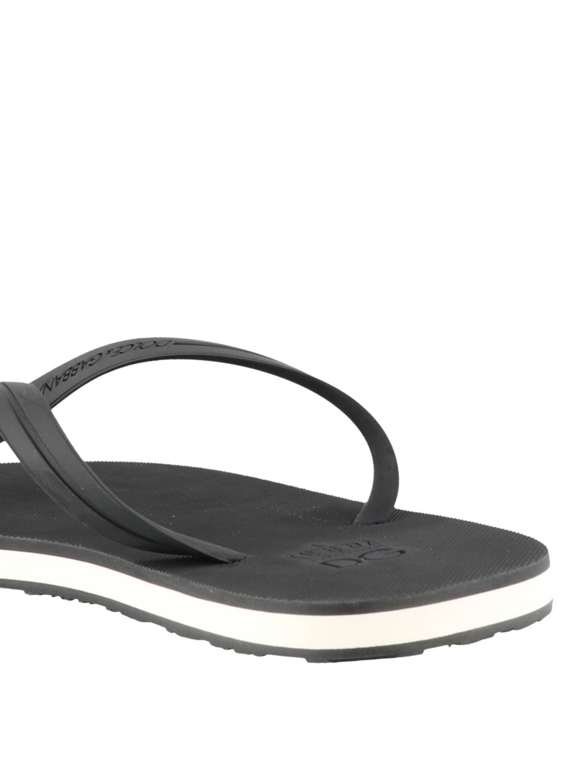 2d529aedcfbc Dolce   Gabbana - Black rubber flip-flop - flip flops - CS1616 ...