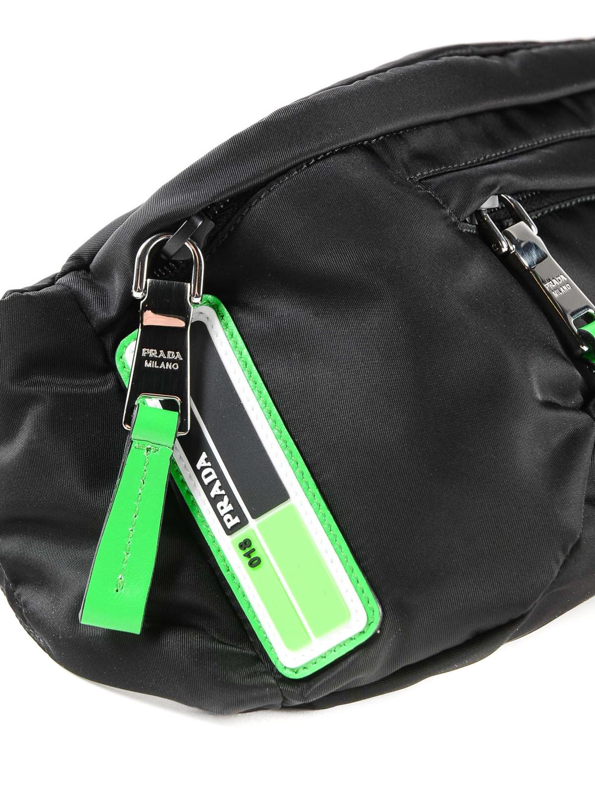070cd71f155f Prada - Black tech fabric belt bag - belt bags - 2VL0082BTE XVS