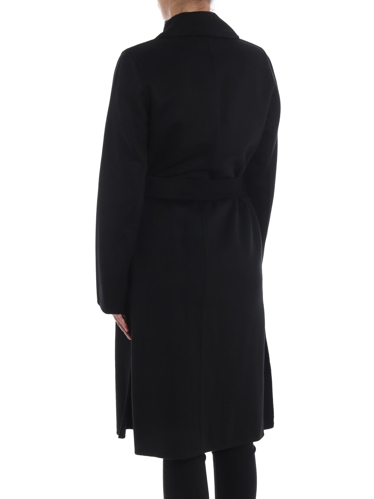 new arrival 701c0 c61ae Michael Kors - Cappotto a vestaglia nero in misto lana ...
