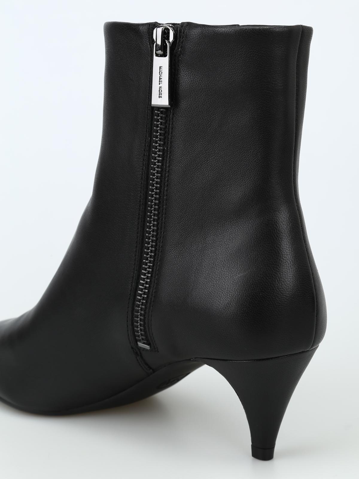 c5b6db39181b3 Michael Kors - Blaine Flex black leather kitten bootie - ankle boots ...