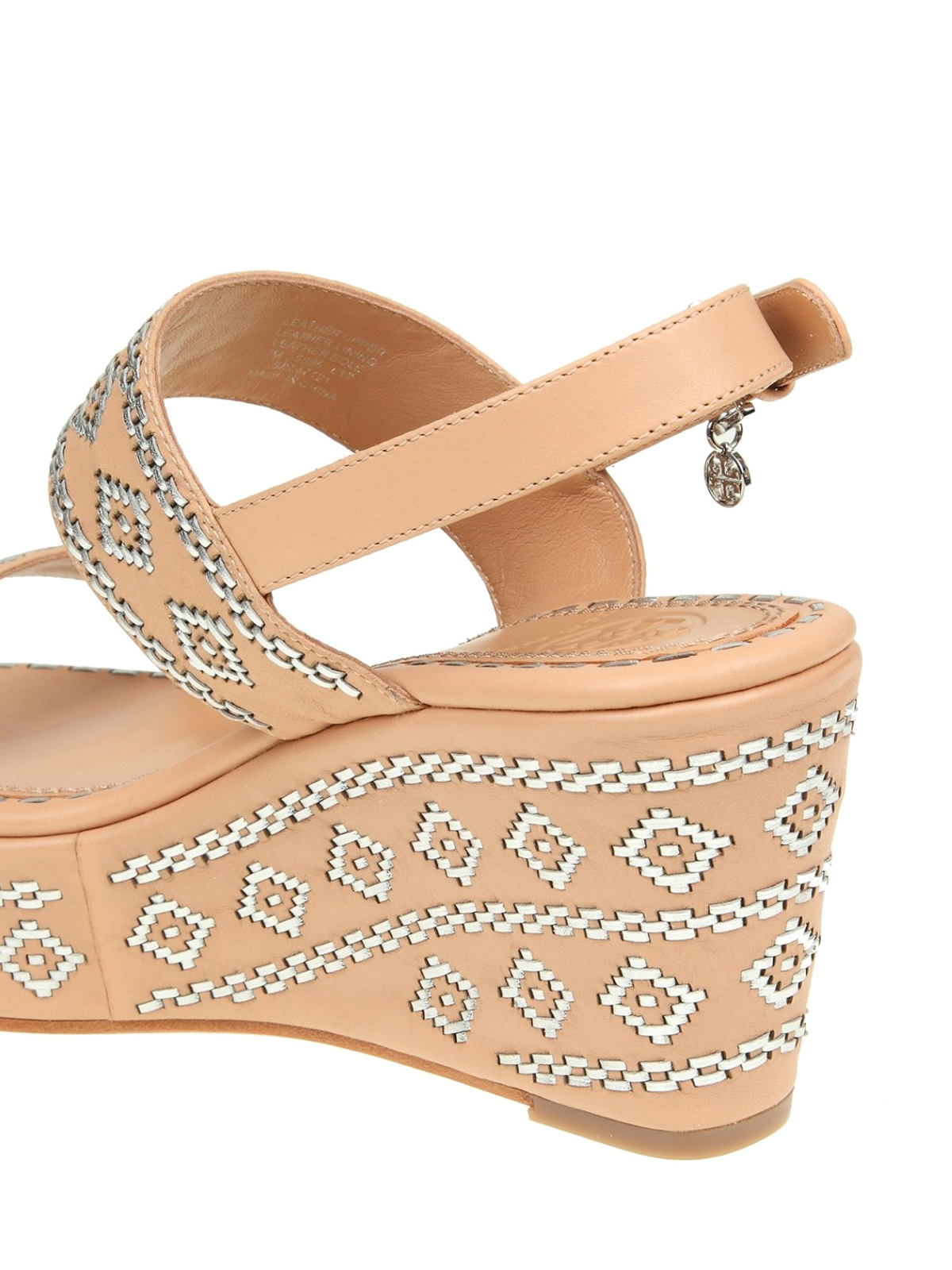 f12425f45ab187 Tory Burch - Blake nude leather wedge sandals - sandals - 47121261
