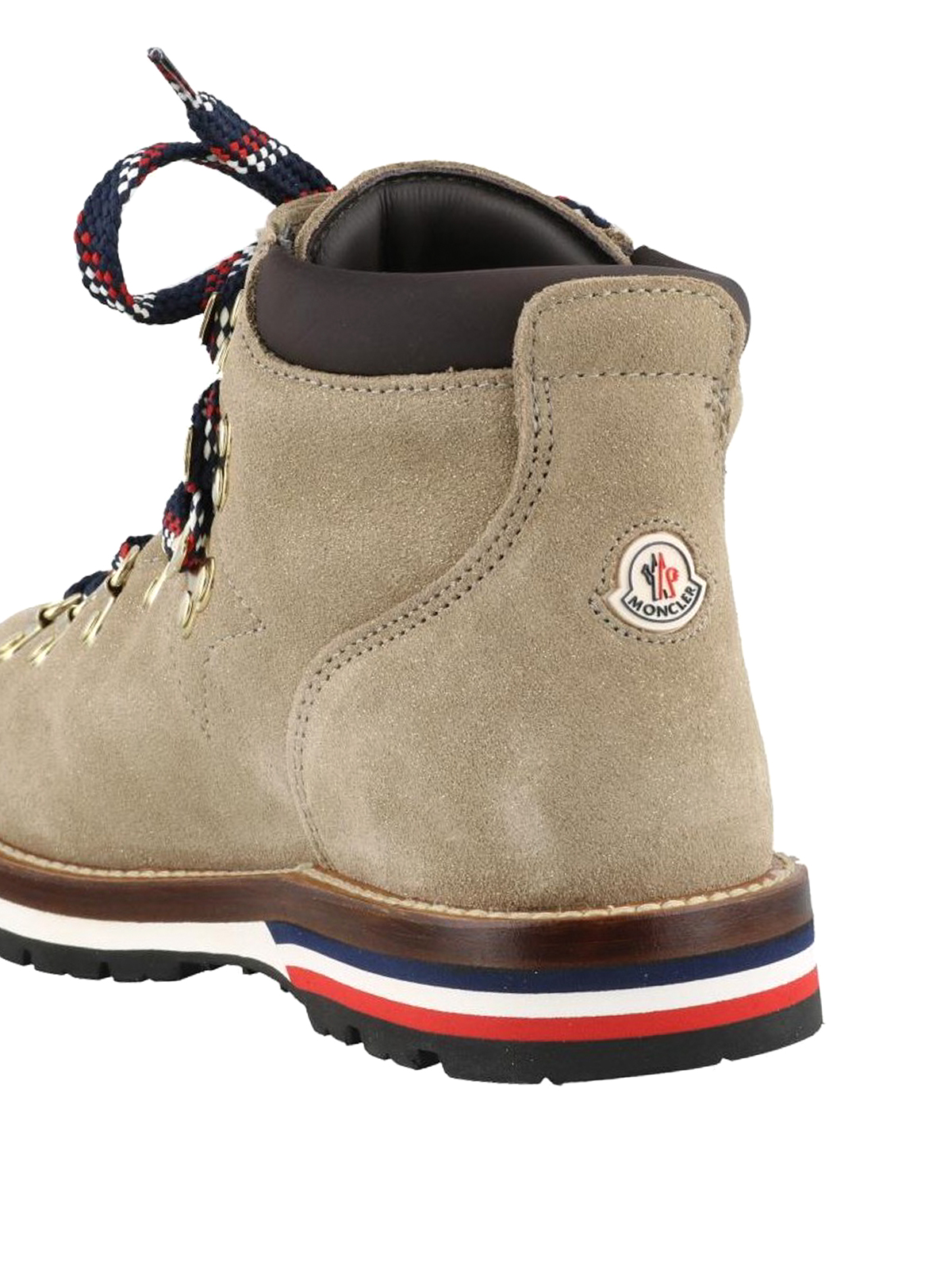 c35da69146cf8 Moncler - Blanche suede hiking ankle boots - ankle boots ...