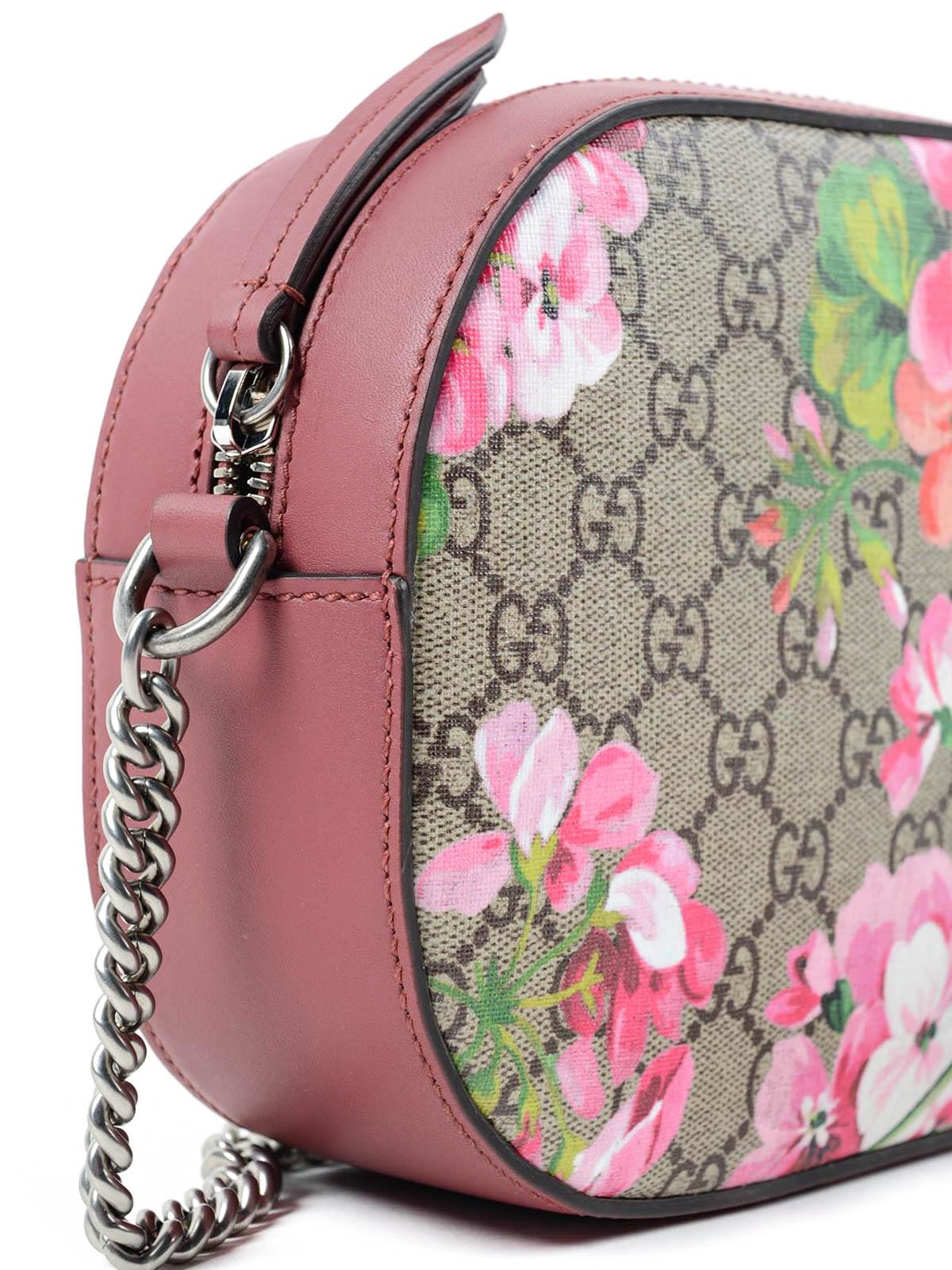 a79d1c28ede Gucci - Blooms GG supreme mini chain bag - cross body bags - 409535 ...