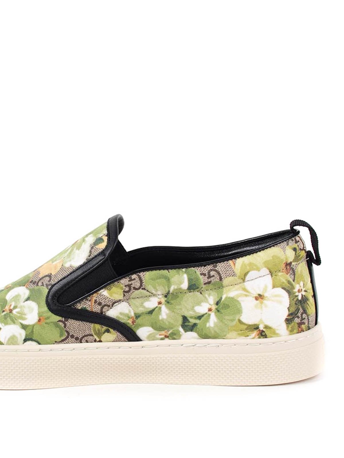 43bc8db687b Gucci - Blooms print canvas slip-ons - Loafers   Slippers - 407362 ...