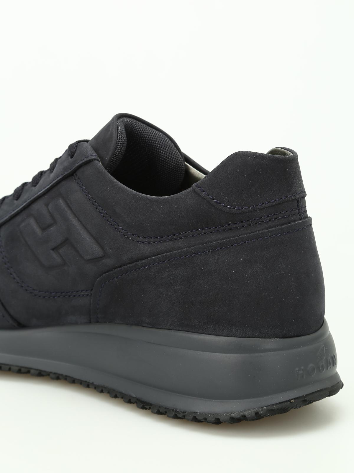 Hogan - Sneaker Interactive N20 nabuk blu - sneakers ... 0e189a3681d