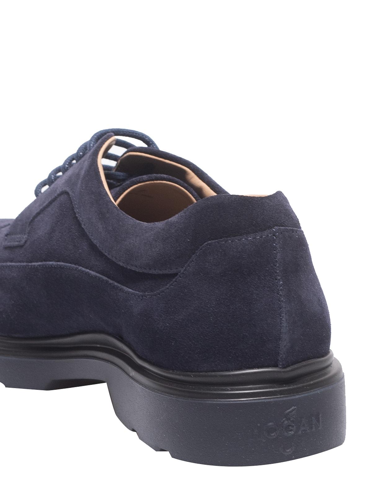 Hogan - Blue suede Derby shoes - lace-ups shoes - HXM3930BH70HG0U801