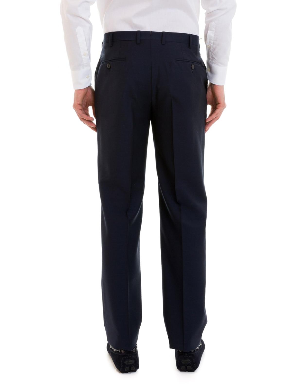 formal trousers - Blue Brioni ZFk3Mg5ck