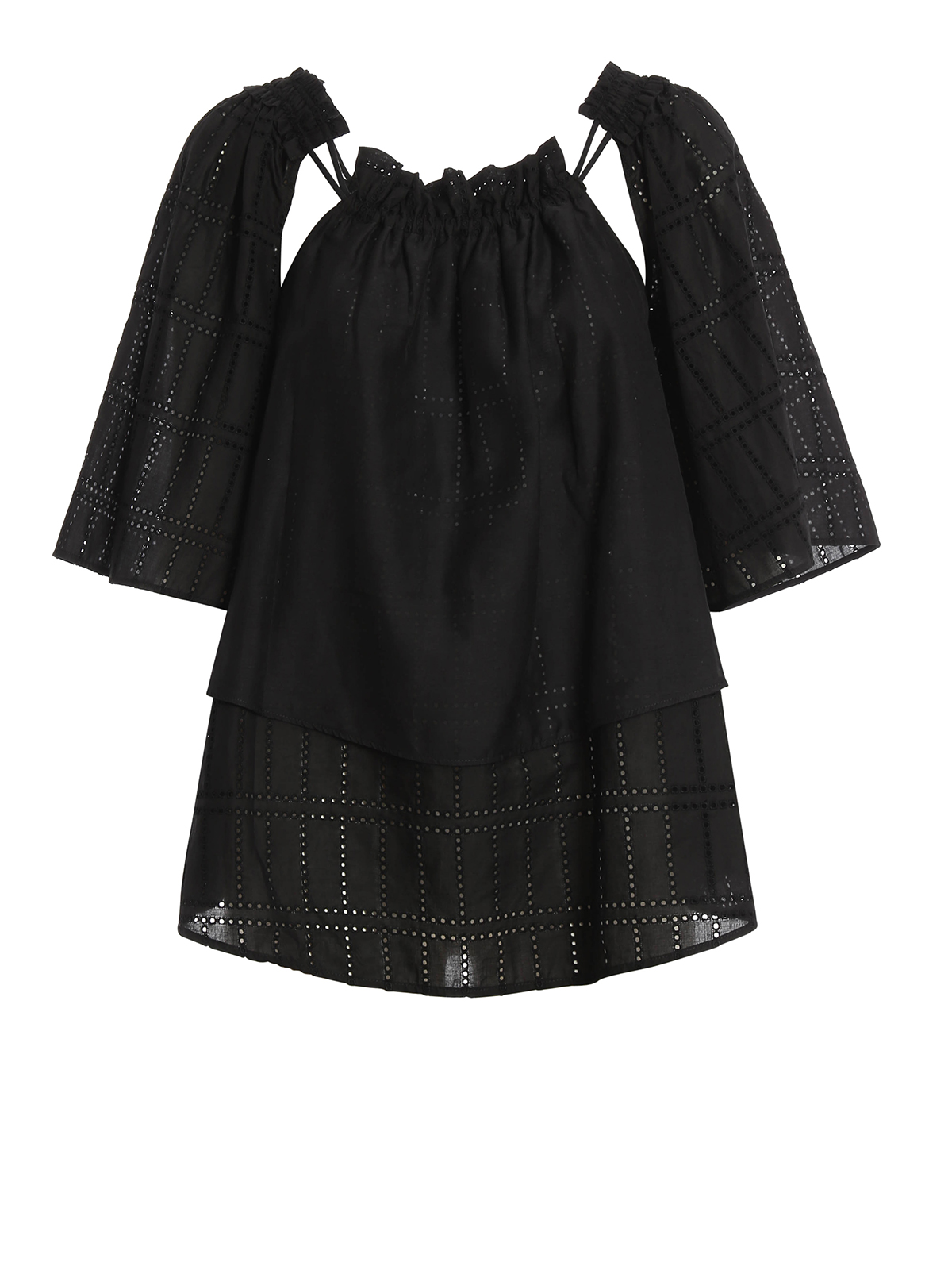 broderie anglaise cotton blouse by blumarine blouses. Black Bedroom Furniture Sets. Home Design Ideas