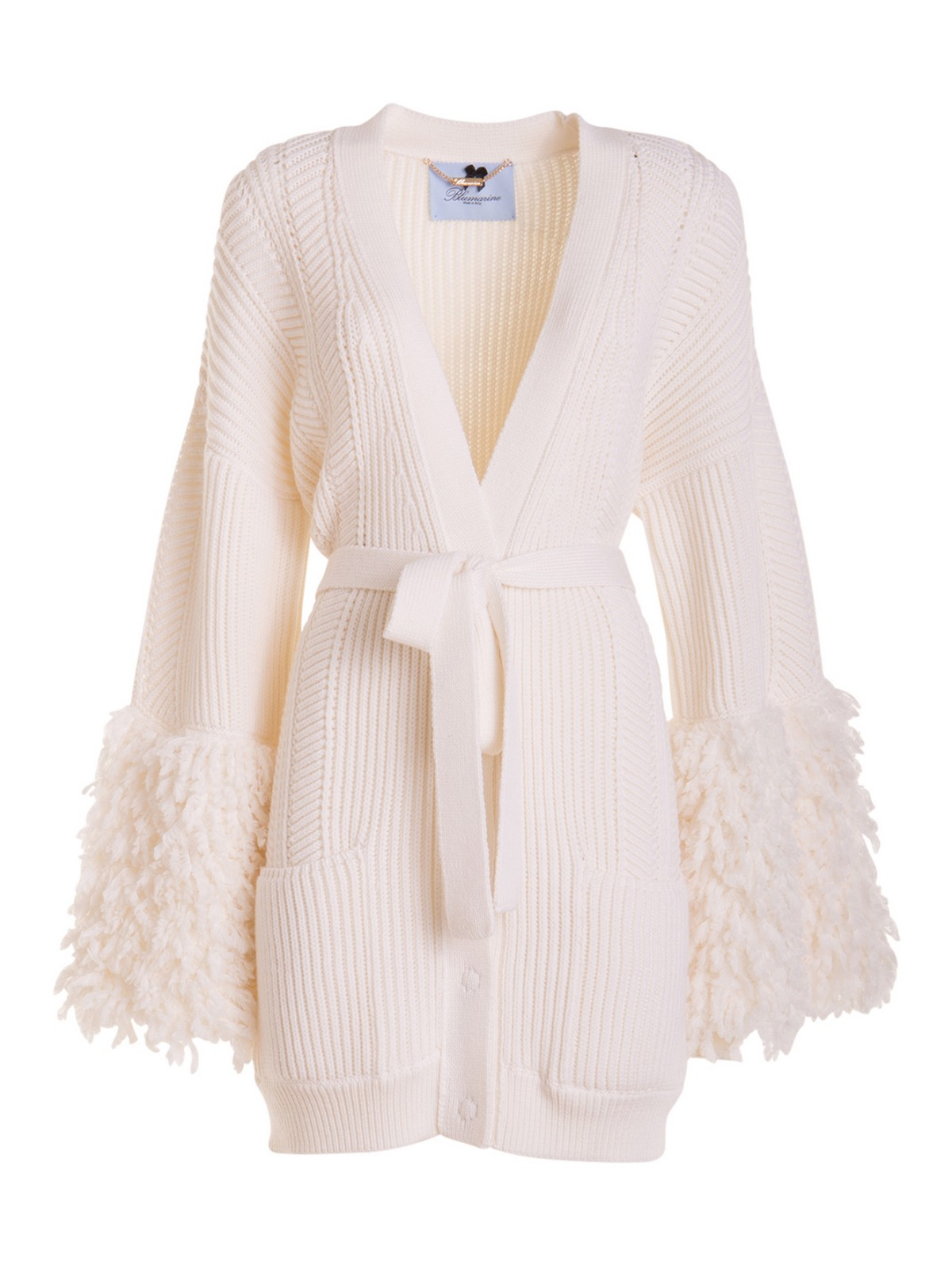 Blumarine FRINGED LONG CARDIGAN